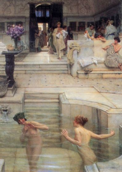 Alma-Tadema, Sir Lawrence: The Bath. Fine Art Print/Poster. Sizes: A4/A3/A2/A1 (00656)